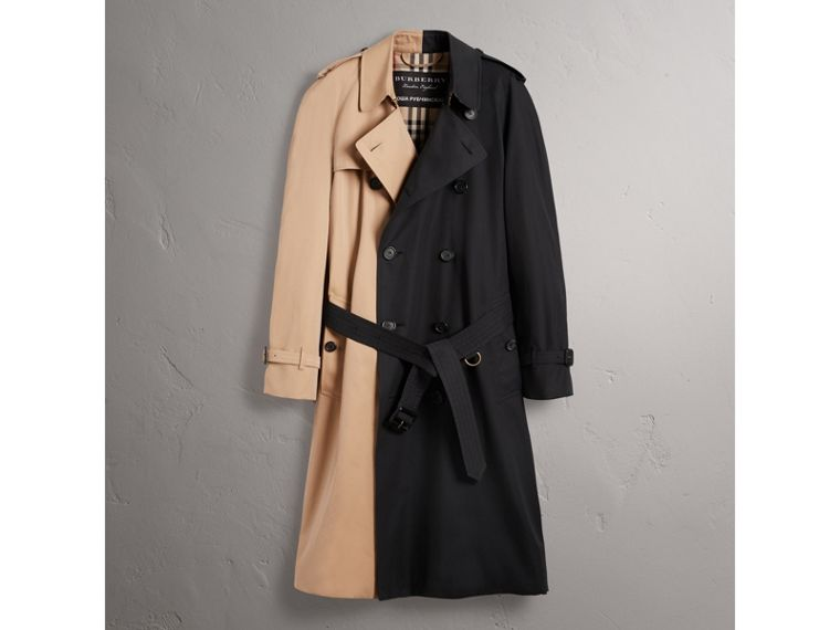 Gosha x Burberry Two-tone Trench Coat in Honey | Burberry - cell image 4