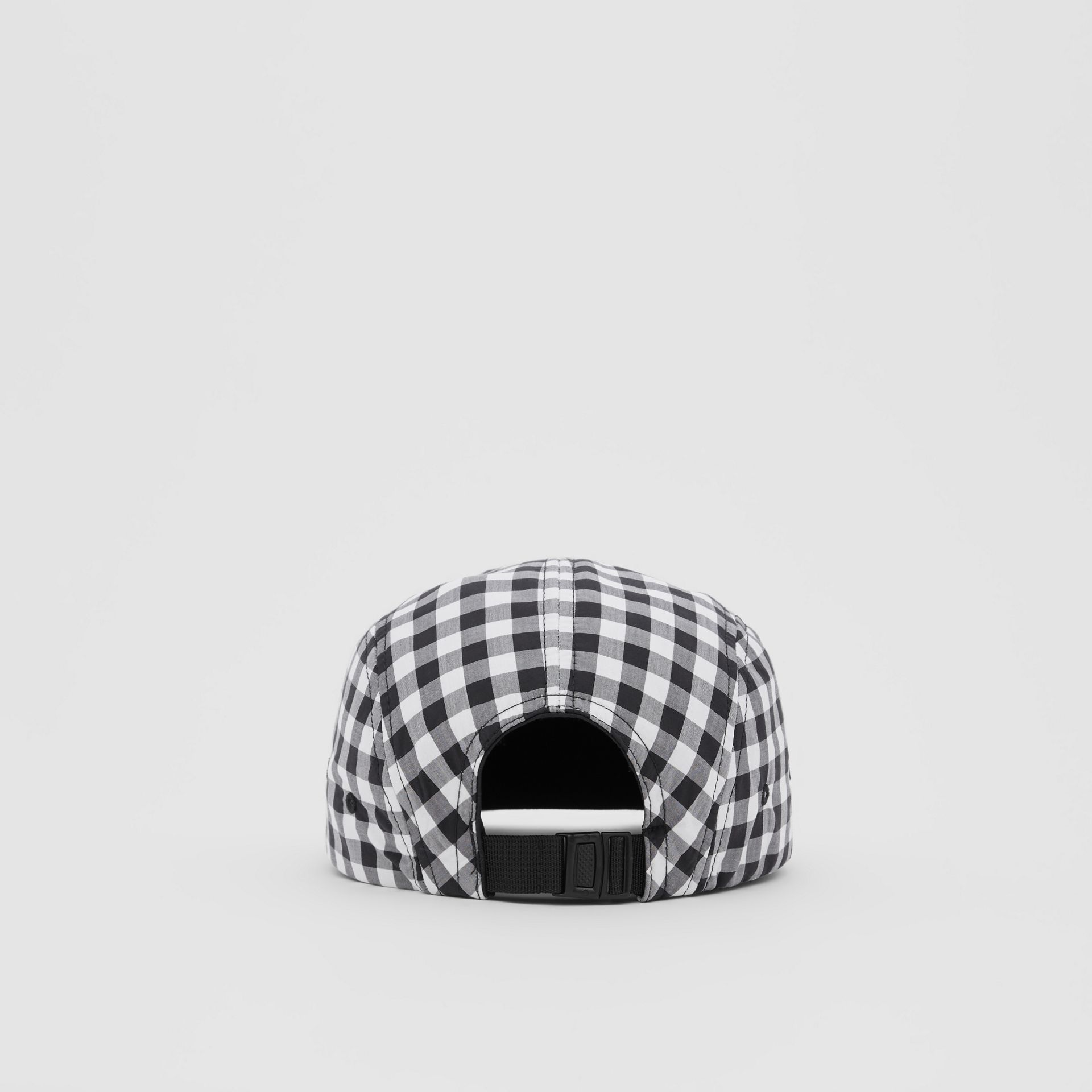 Logo Appliqué Gingham Cotton Cap in Black/white   Burberry United States - gallery image 6