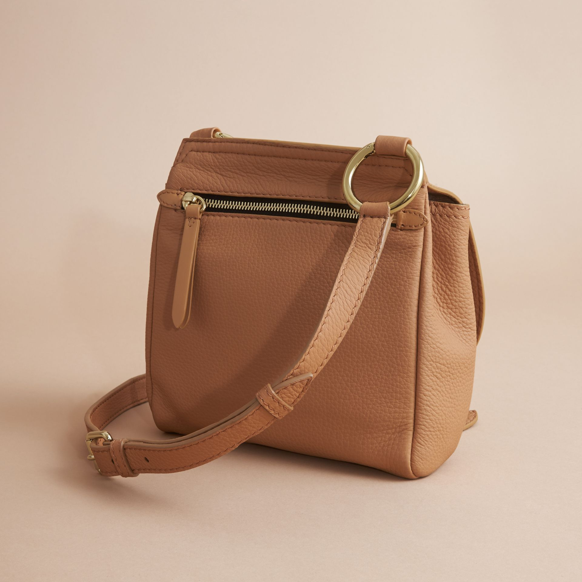 The Bridle Crossbody Bag in Deerskin in Pale Clementine - Women | Burberry - gallery image 4