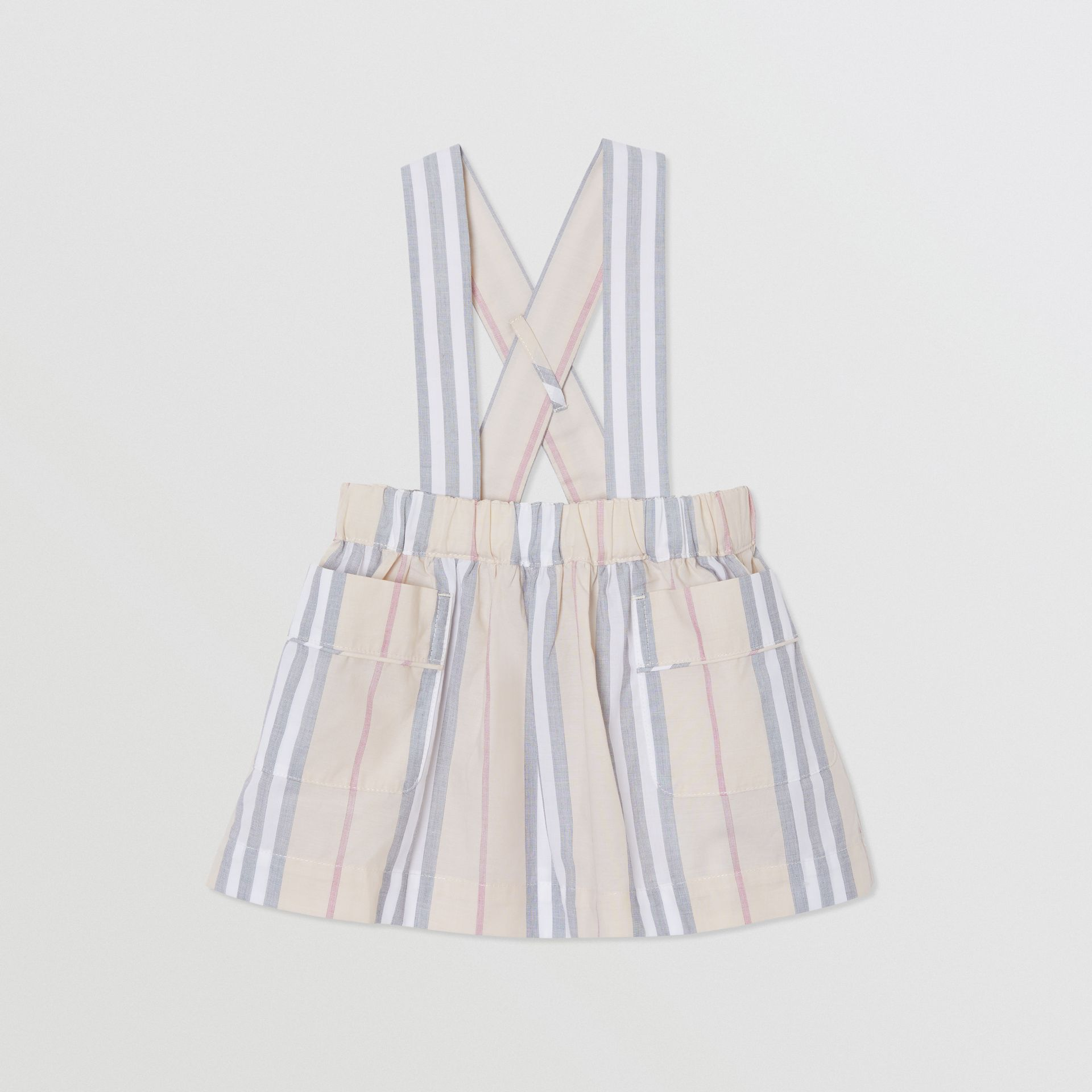 Icon Stripe Cotton Three-piece Baby Gift Set in Pale Stone - Children | Burberry - gallery image 3