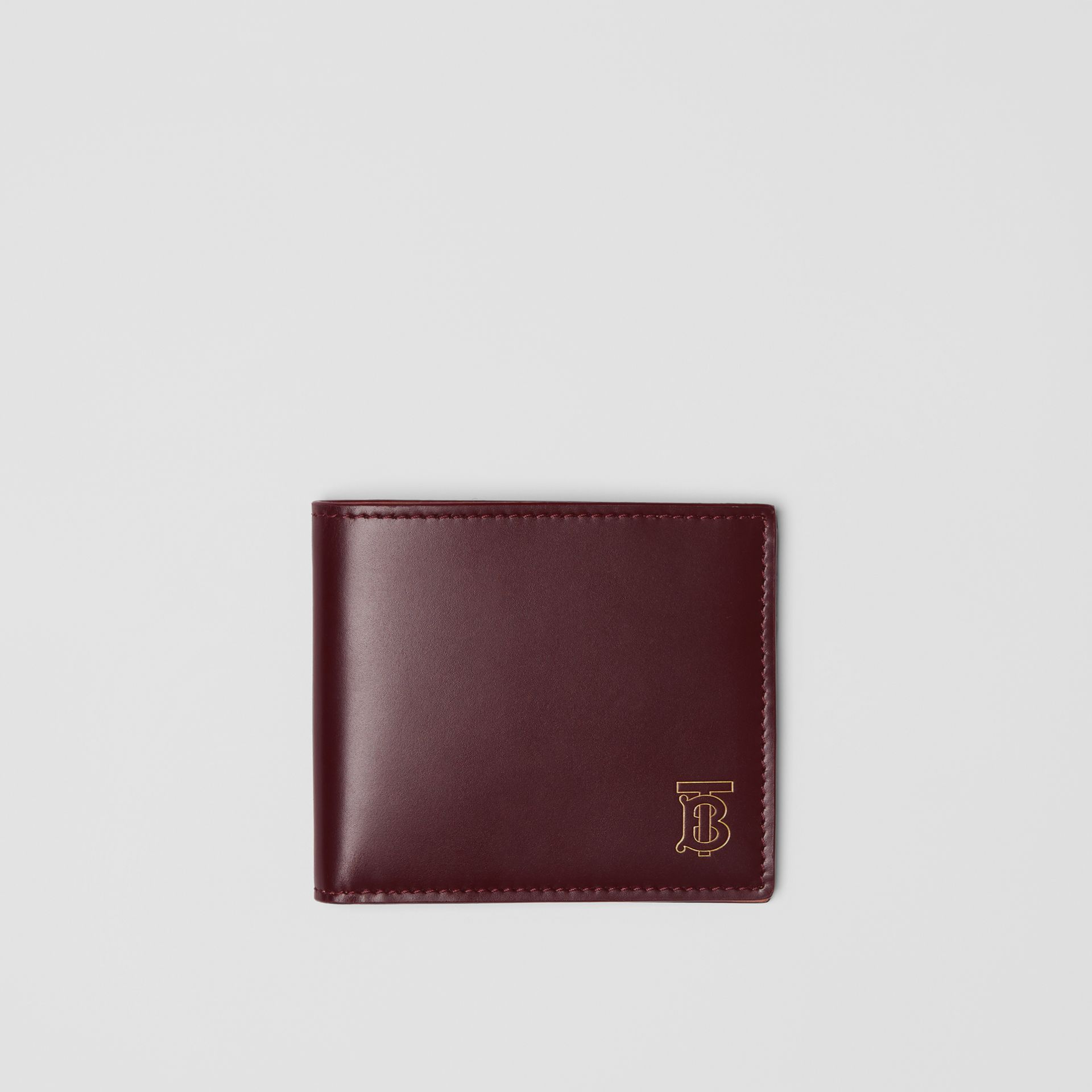 Monogram Motif Leather International Bifold Wallet in Oxblood - Men | Burberry Australia - gallery image 0