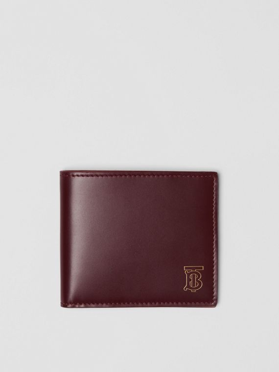 Monogram Motif Leather International Bifold Wallet in Oxblood