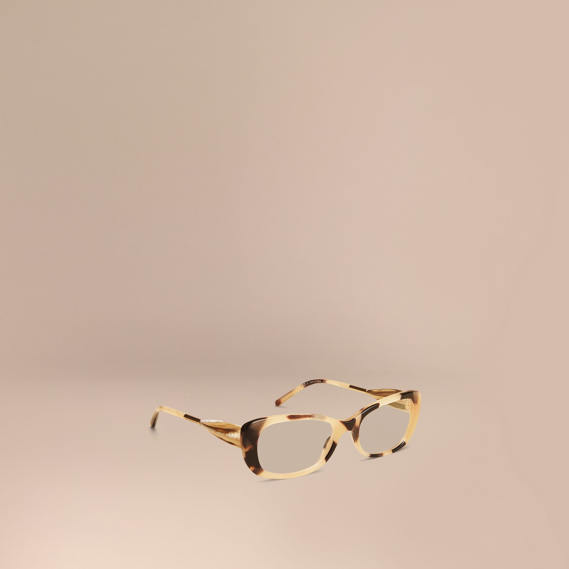 Gabardine Collection Oval Optical Frames Light Horn - gallery image 1