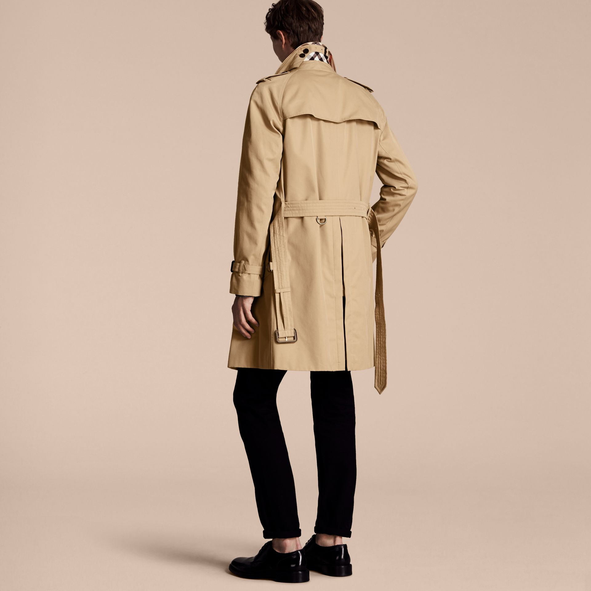 Honey The Wiltshire – Long Heritage Trench Coat Honey - gallery image 3
