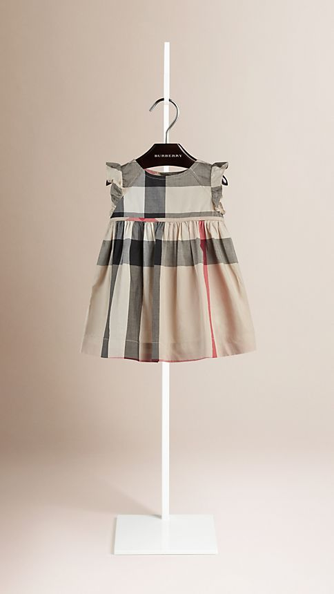 New classic check Flutter Sleeve Check Dress - Image 1