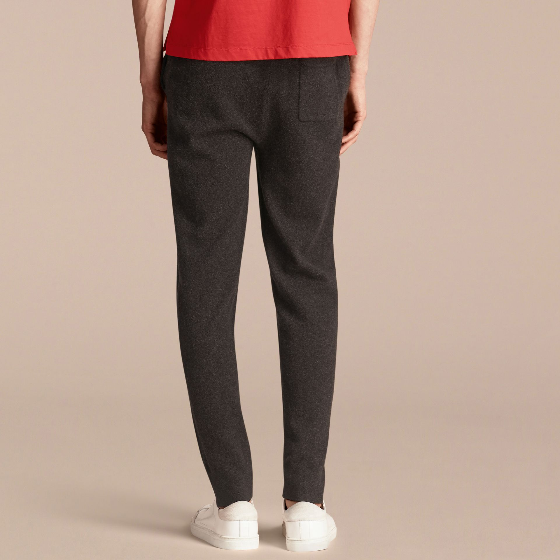 Knitted Cashmere Blend Drawstring Trousers - gallery image 2