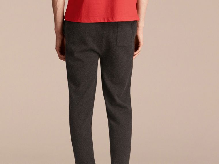 Knitted Cashmere Blend Drawstring Trousers - cell image 1