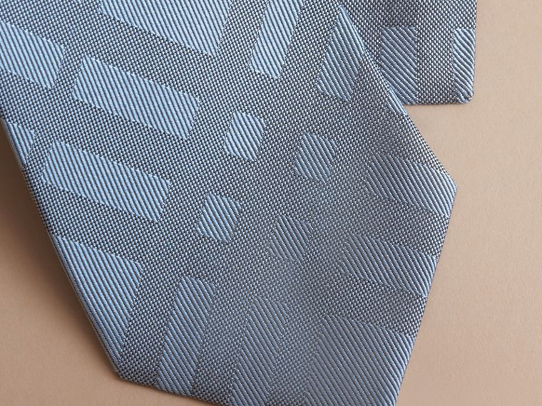 Classic Cut Check Silk Jacquard Tie in Light Blue - Men | Burberry - cell image 1