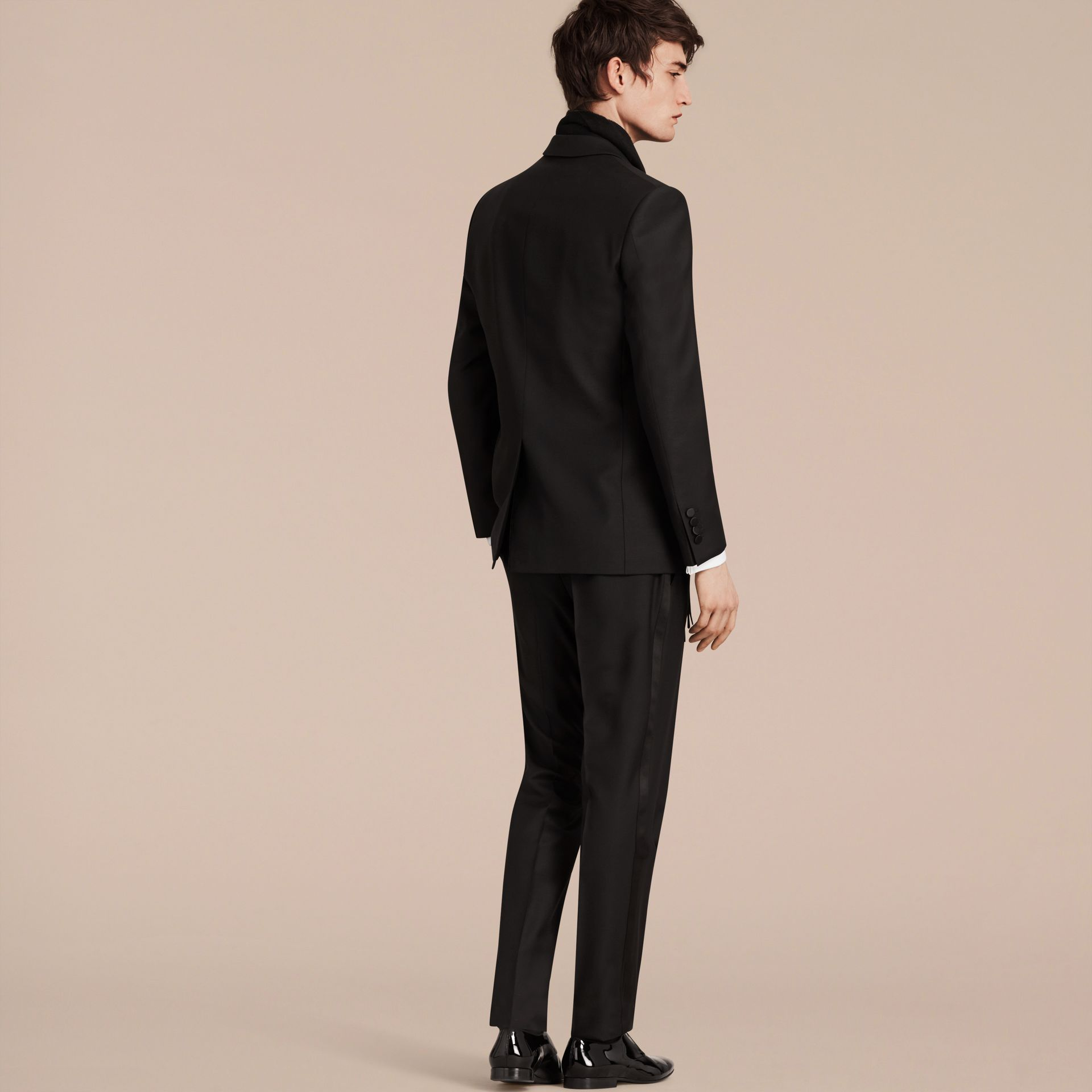 Modern Fit Wool Mohair Half-canvas Tuxedo - Men | Burberry - gallery image 3