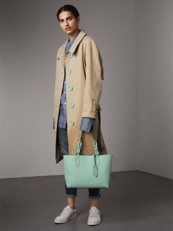 The Small Reversible Tote with Resin Chain in Pale Opal - Women | Burberry Canada - cell image 3