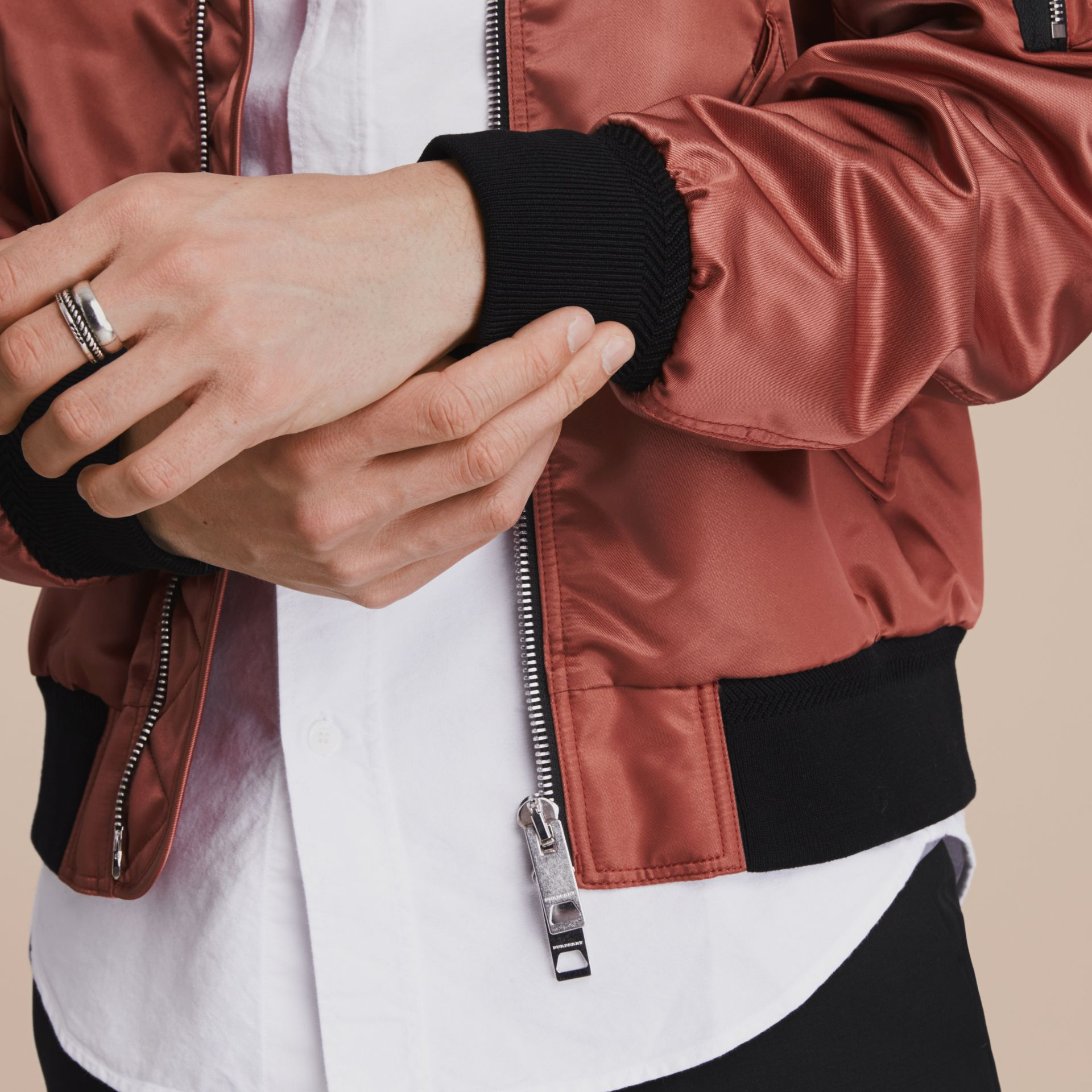 Technical Bomber Jacket Rose Pink - gallery image 6