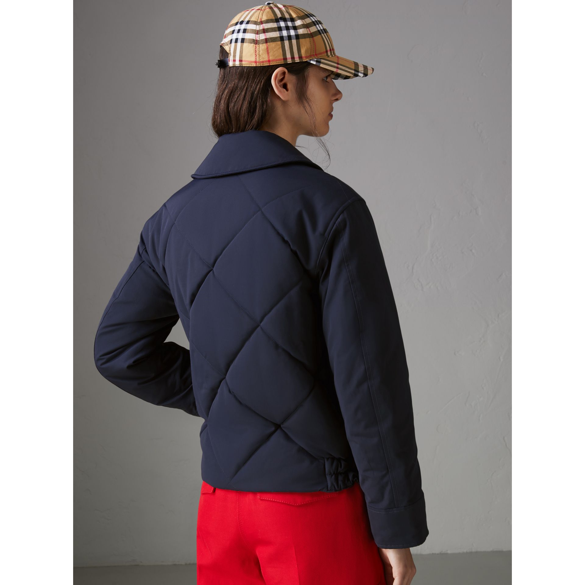 Quilted Technical Cotton-blend Jacket in Navy - Women | Burberry Singapore - gallery image 2