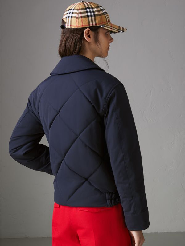 Quilted Technical Cotton-blend Jacket in Navy - Women | Burberry United States - cell image 2