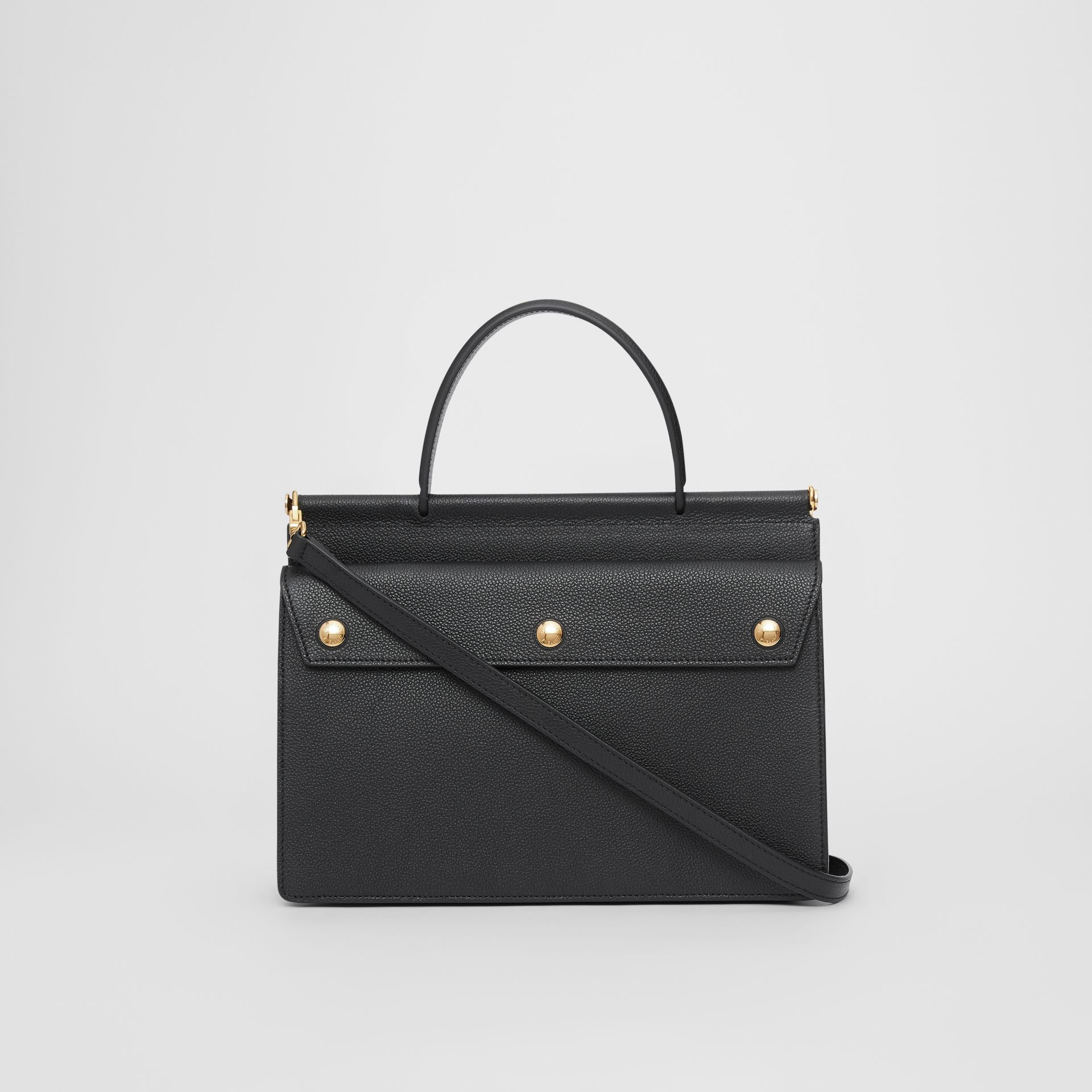 Small Leather Title Bag with Pocket Detail in Black - Women | Burberry - gallery image 7