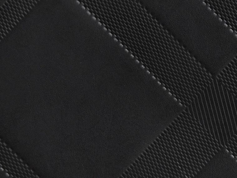 Black Check-embossed Leather Ziparound Wallet Black - cell image 1