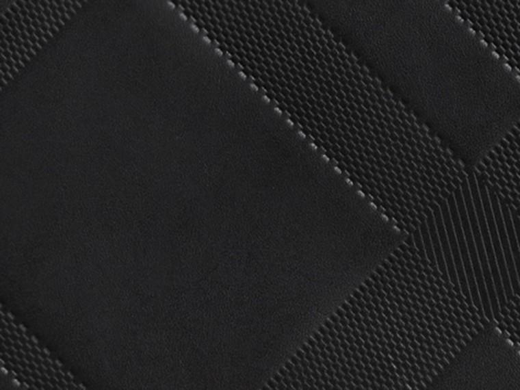 Noir Portefeuille zippé en cuir à motif check estampé Noir - cell image 1
