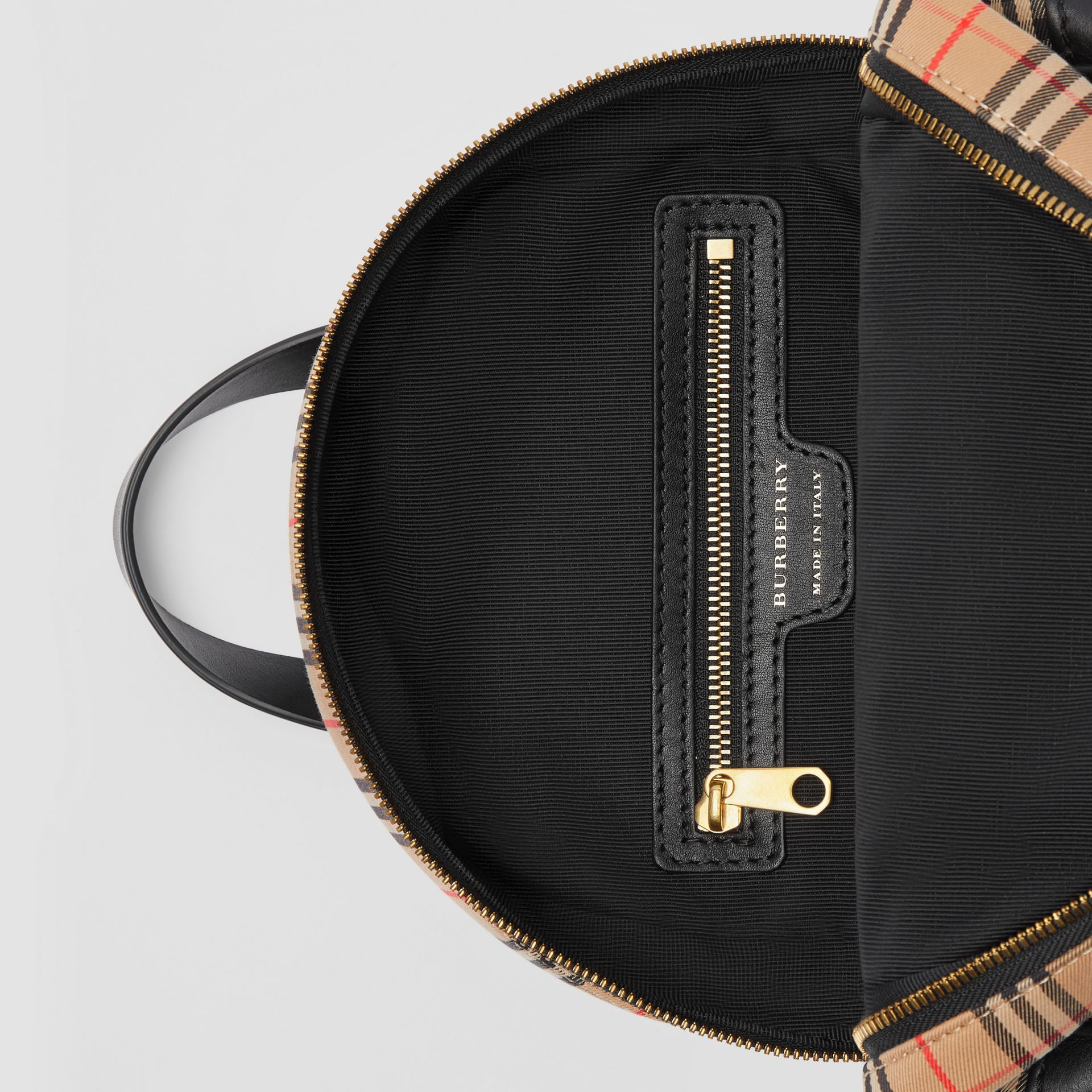 The 1983 Check Link Backpack in Black - Women | Burberry Australia - gallery image 4