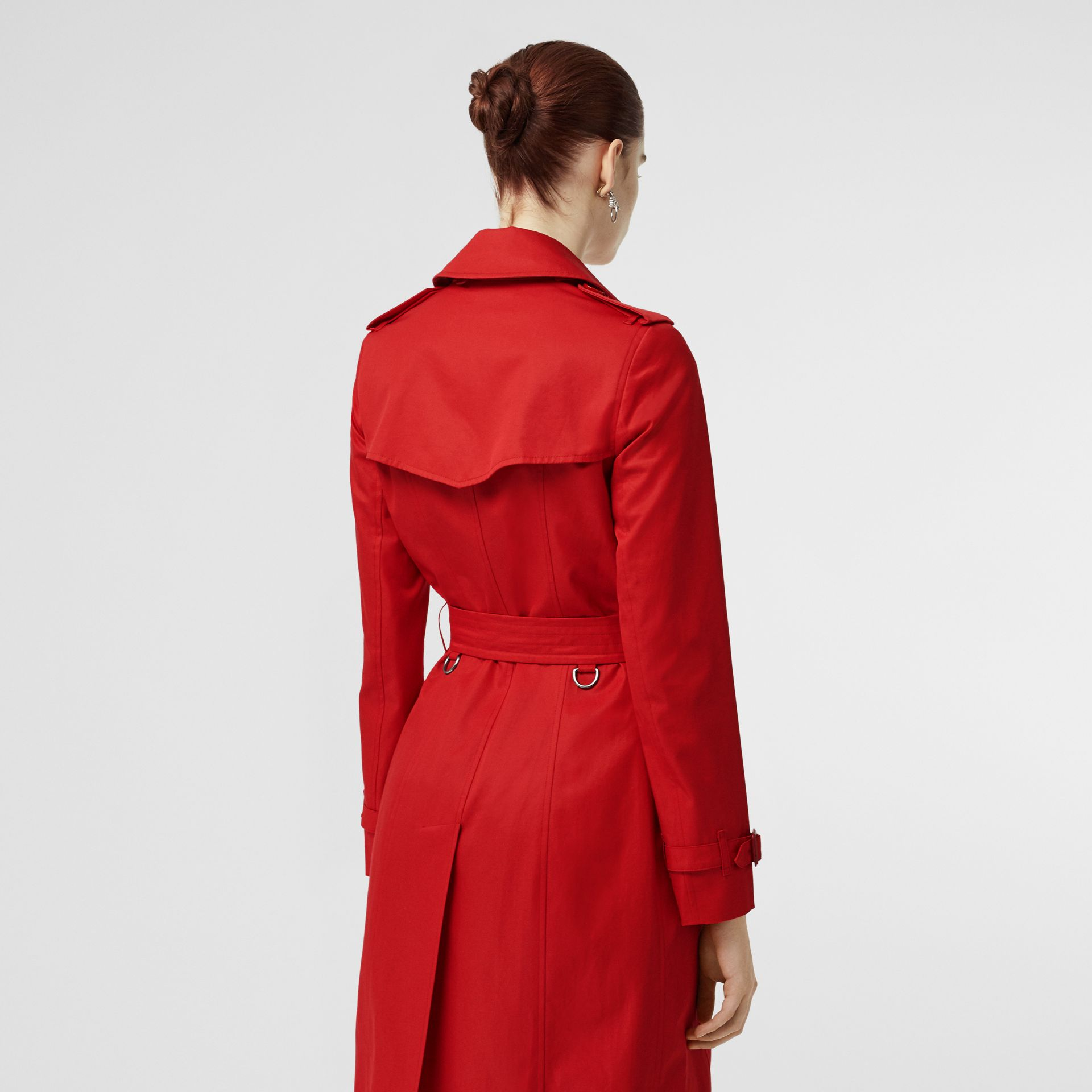 Cotton Gabardine Trench Coat in Bright Red - Women | Burberry - gallery image 2