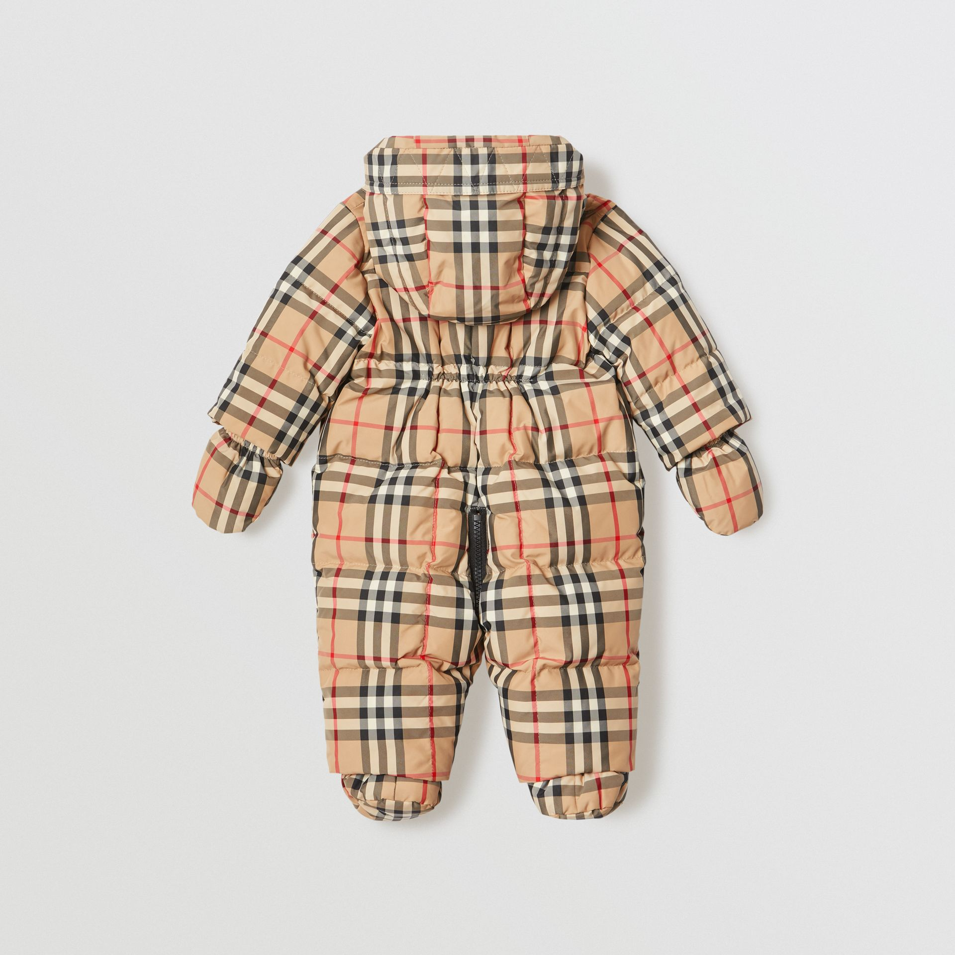 Vintage Check Down-filled Puffer Suit in Archive Beige - Children | Burberry United Kingdom - gallery image 2