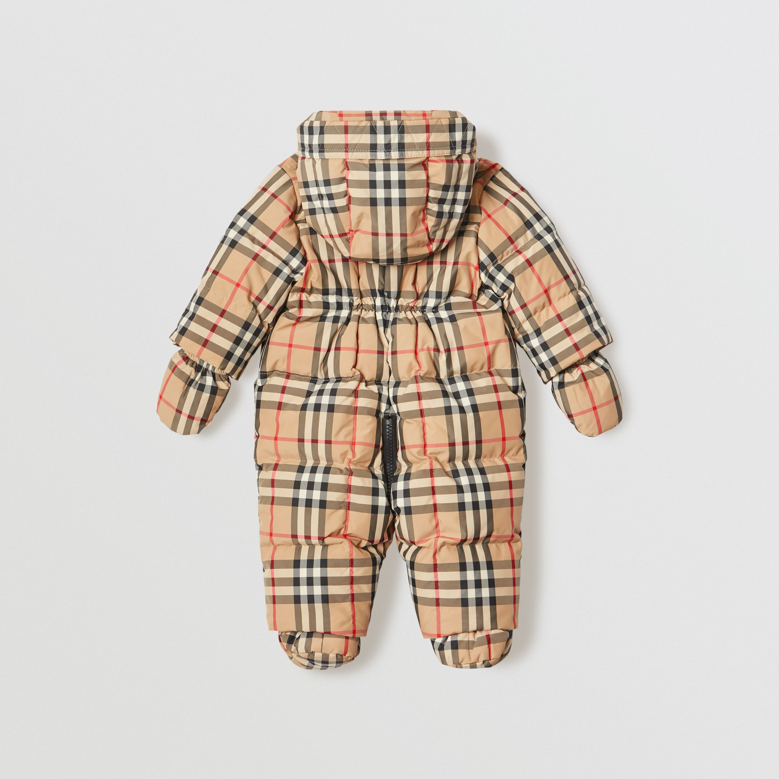 Vintage Check Down-filled Puffer Suit in Archive Beige - Children | Burberry - 3