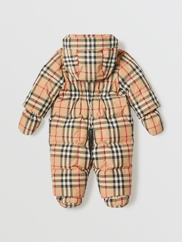 Vintage Check Down-filled Puffer Suit in Archive Beige - Children | Burberry United Kingdom - cell image 2