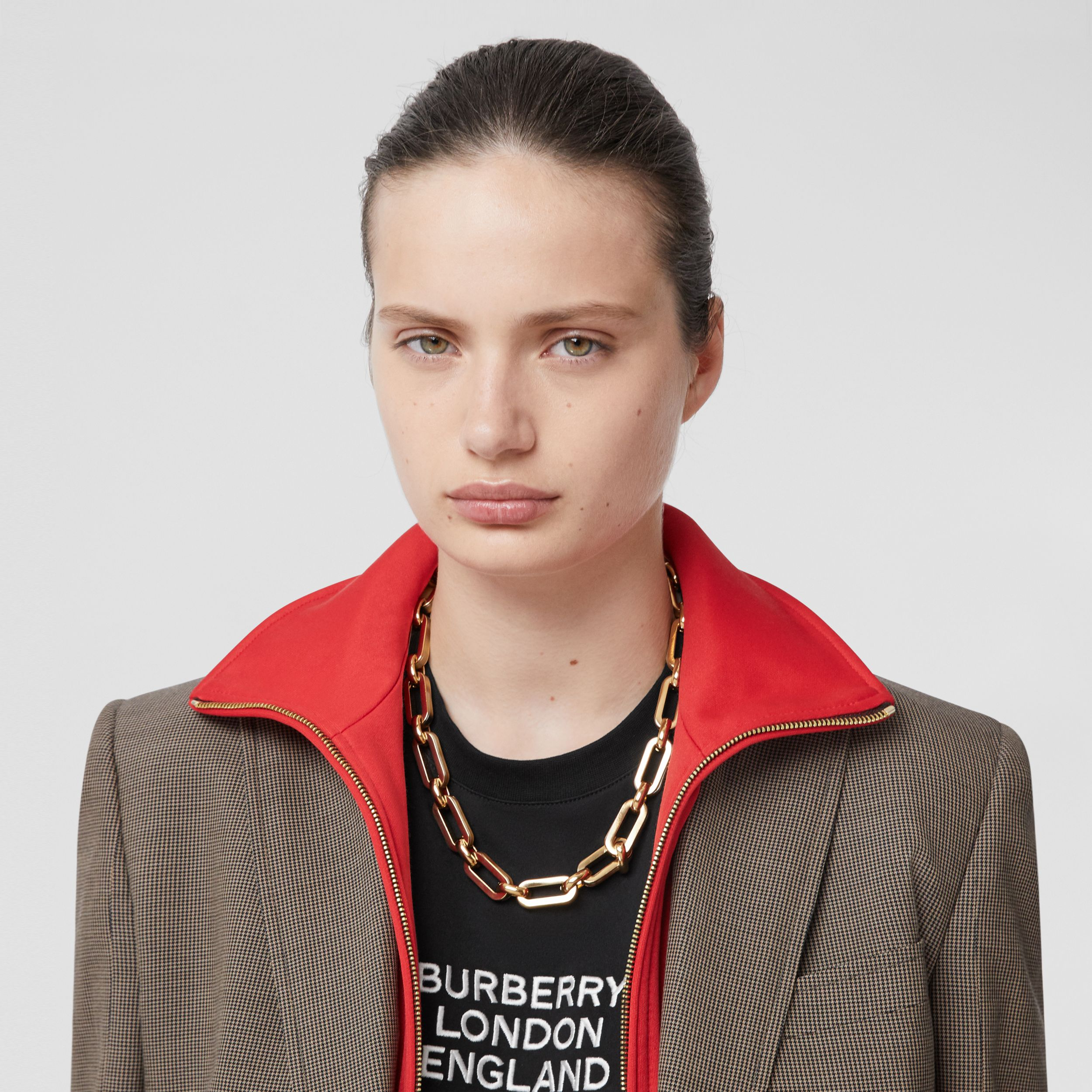 Resin and Gold-plated Chain-link Necklace in Light Gold/horn - Women | Burberry - 3