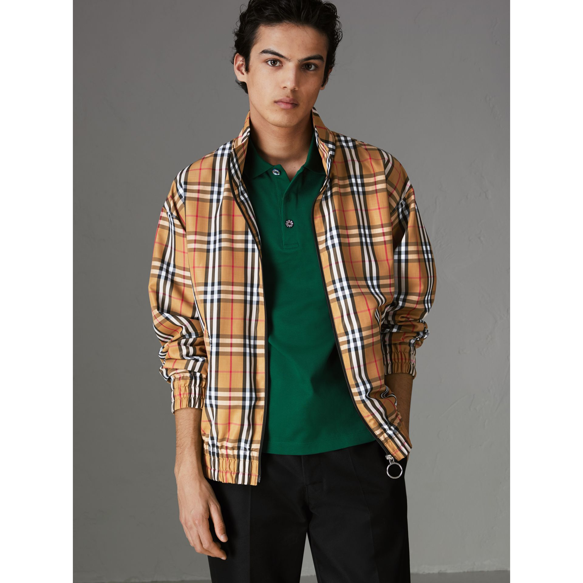 Vintage Check Lightweight Jacket in Antique Yellow - Men | Burberry United Kingdom - gallery image 5