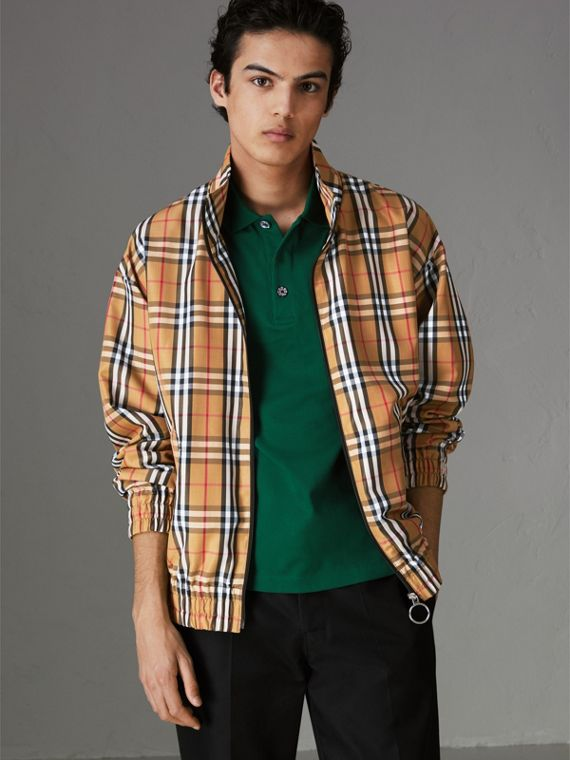 Vintage Check Lightweight Jacket in Antique Yellow