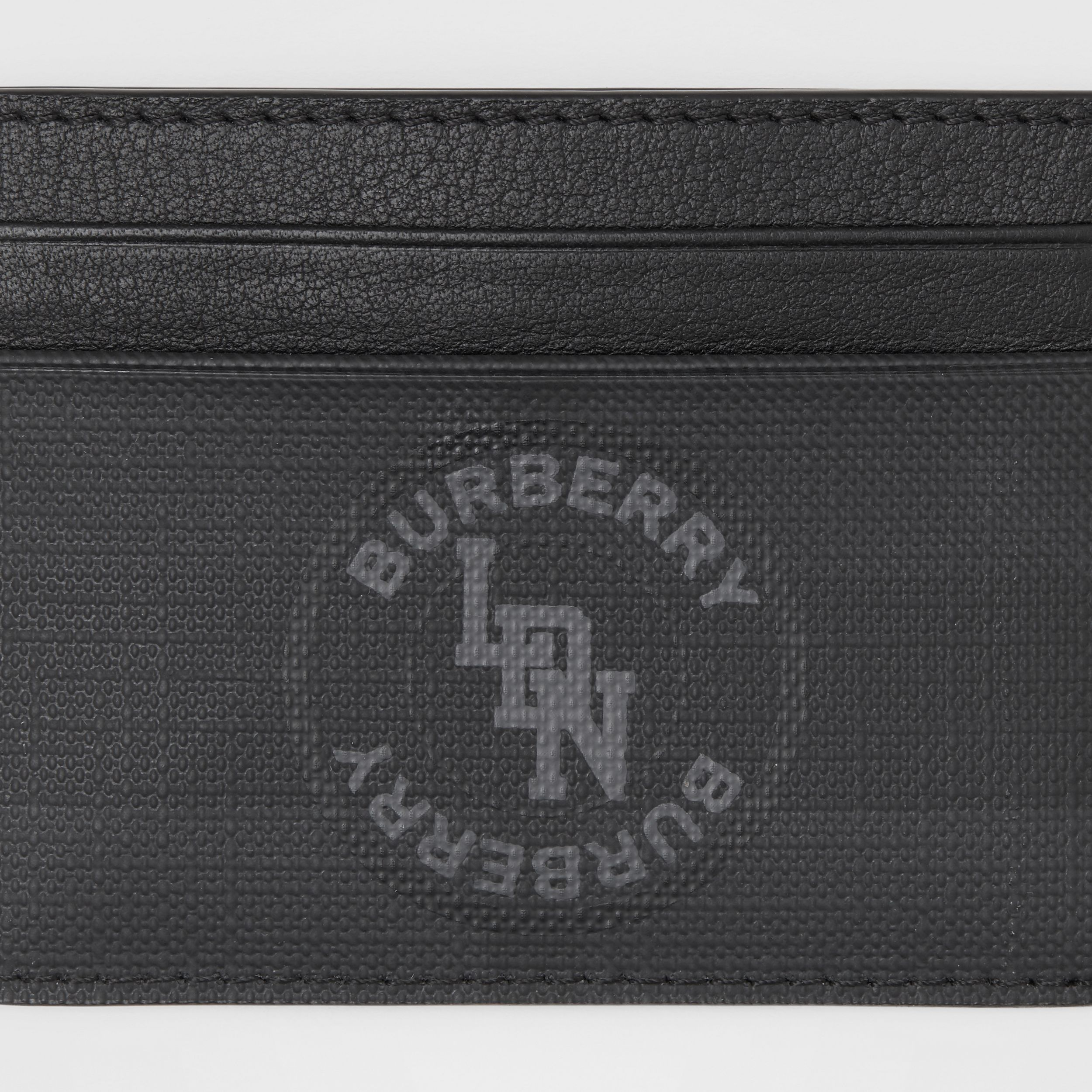 Logo Graphic London Check Card Case in Dark Charcoal - Men | Burberry - 2