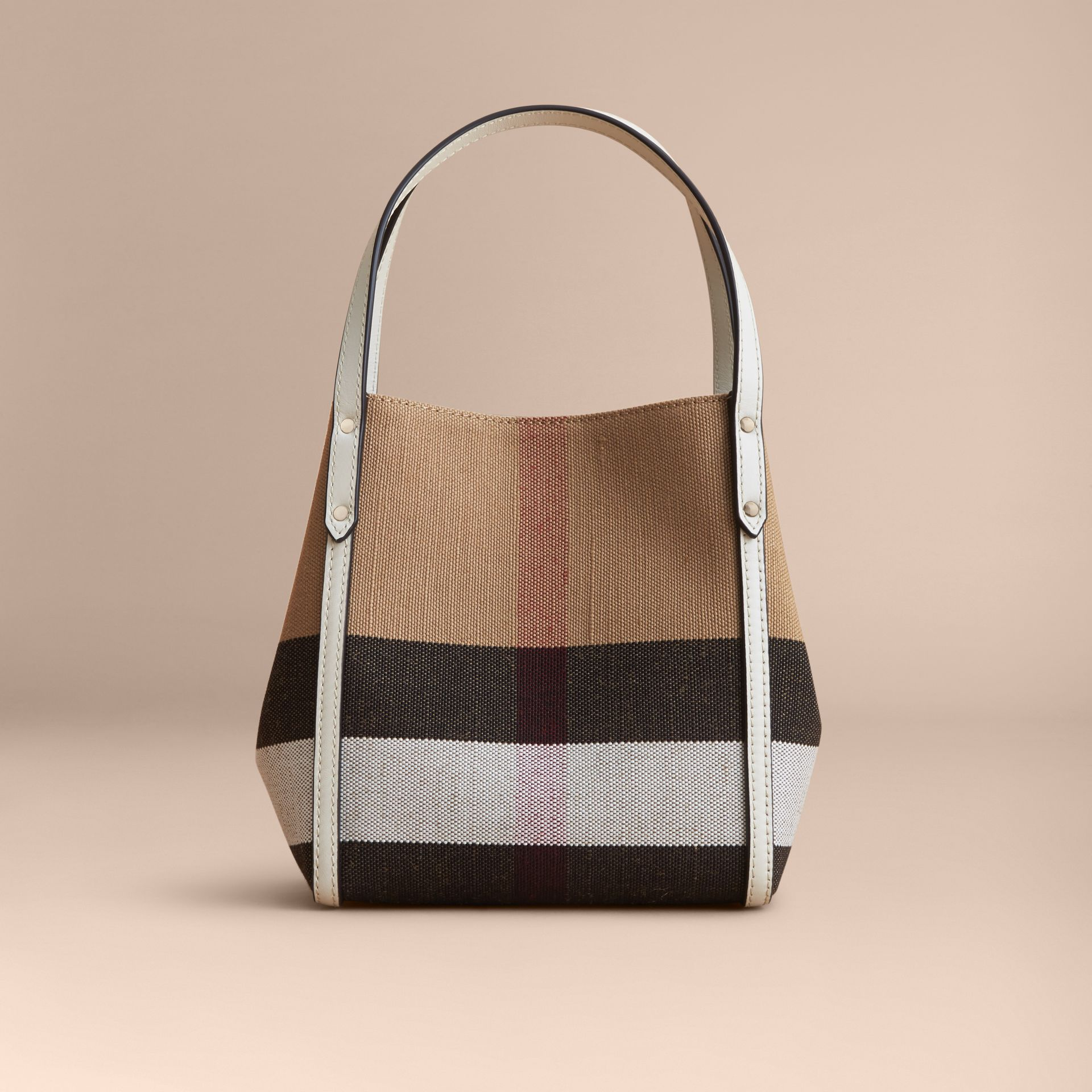 Canvas Check Tote Bag | Burberry - gallery image 5