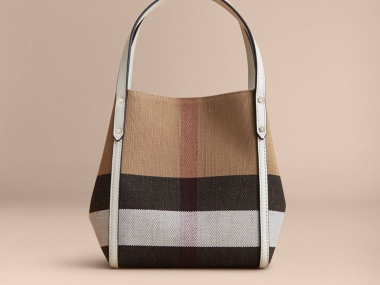 Canvas Check Tote Bag | Burberry - cell image 4