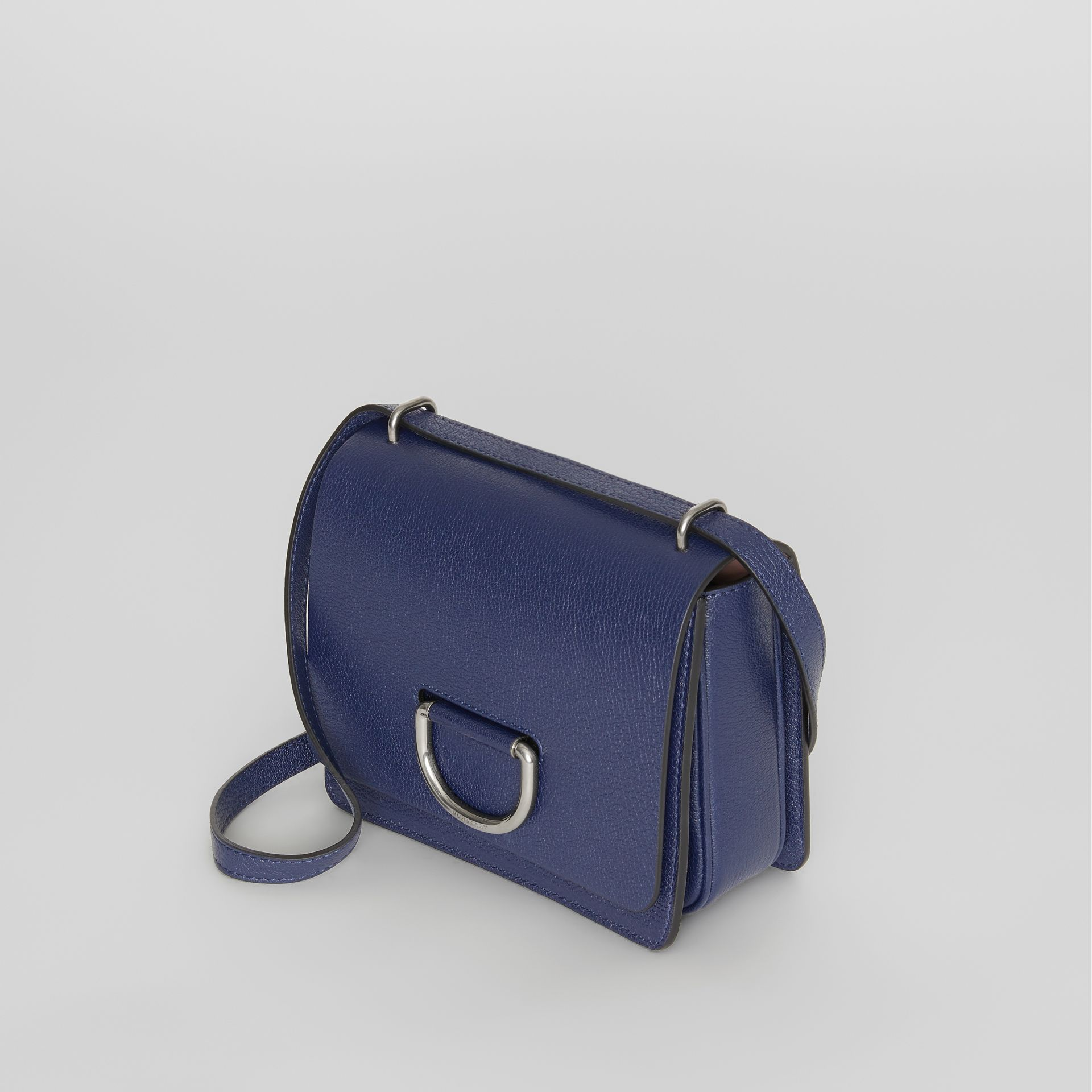 The Small Leather D-ring Bag in Regency Blue - Women | Burberry United Kingdom - gallery image 4