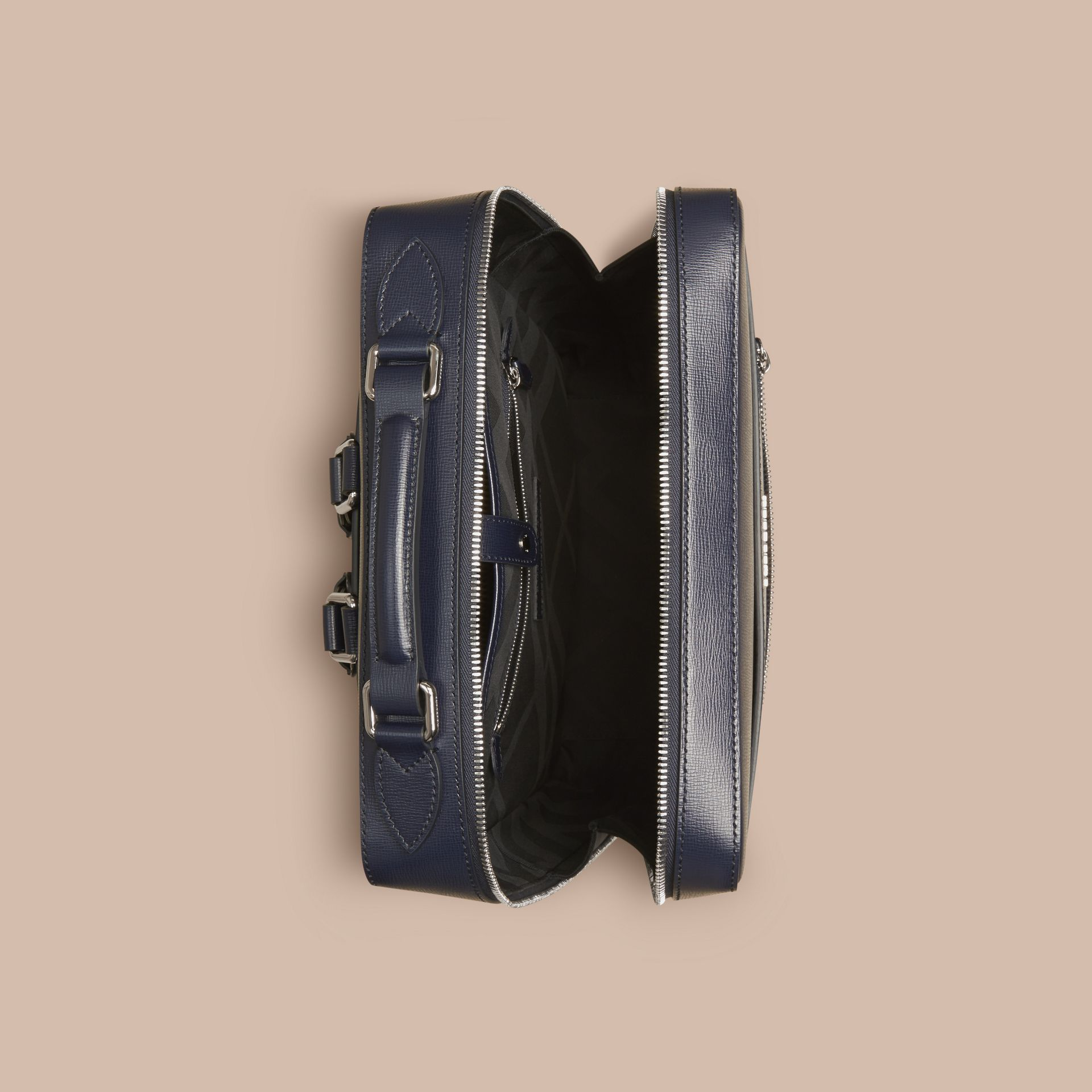 Dark navy London Leather Backpack Dark Navy - gallery image 6