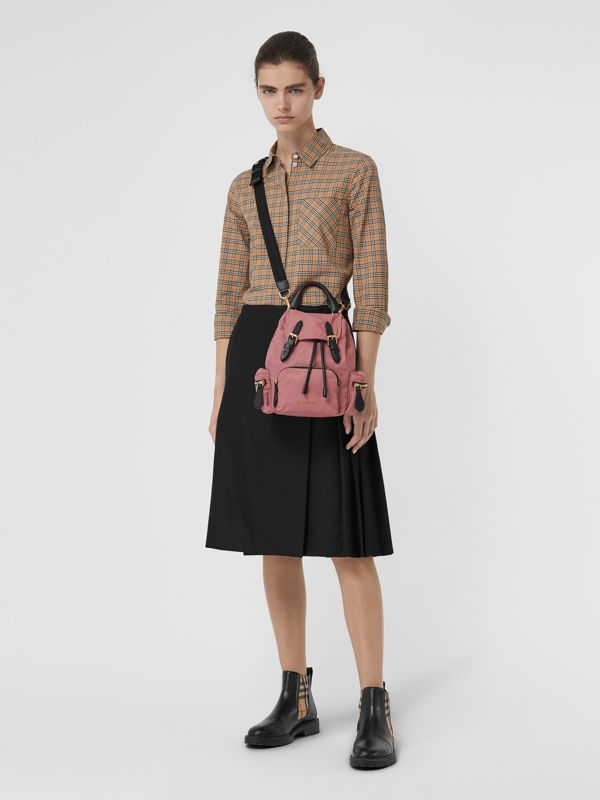 The Small Crossbody Rucksack in Nylon in Mauve Pink - Women | Burberry - cell image 2