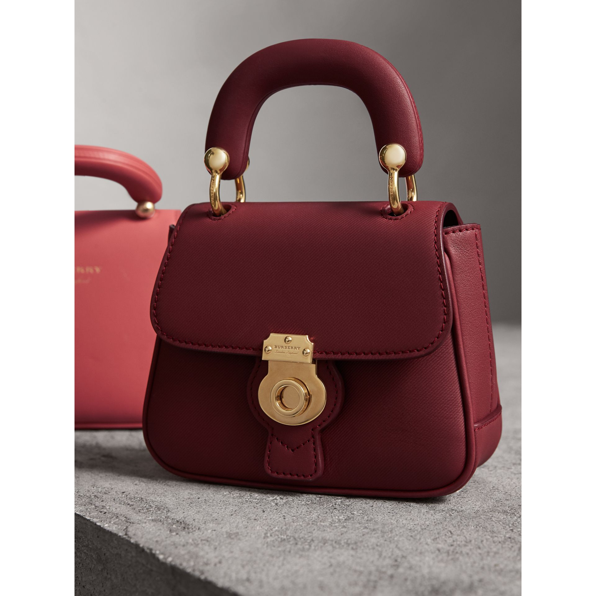 The Mini DK88 Top Handle Bag in Antique Red - Women | Burberry United Kingdom - gallery image 5