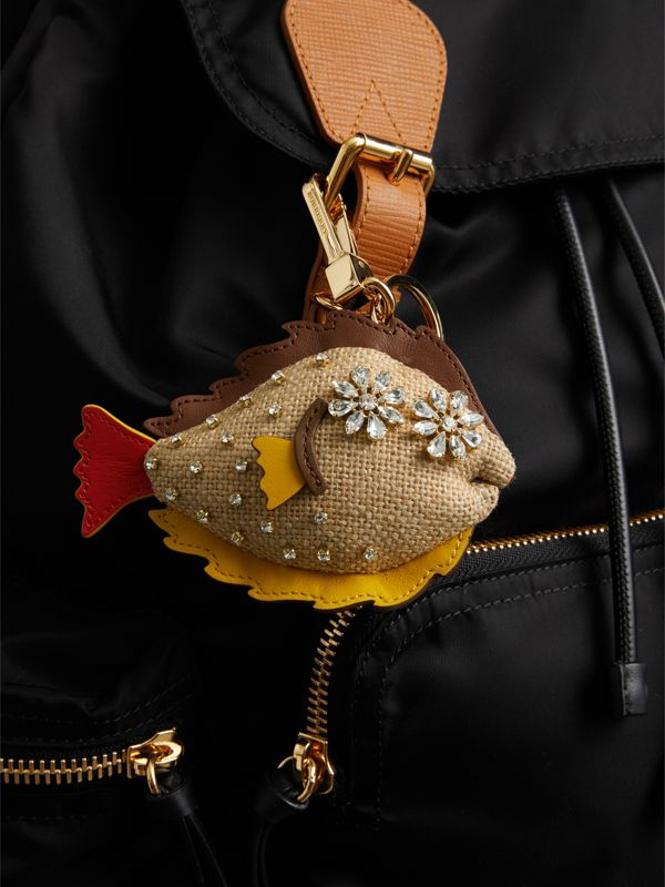 Jude The Sole Fish Cotton Charm in Natural Multicolour | Burberry - cell image 2