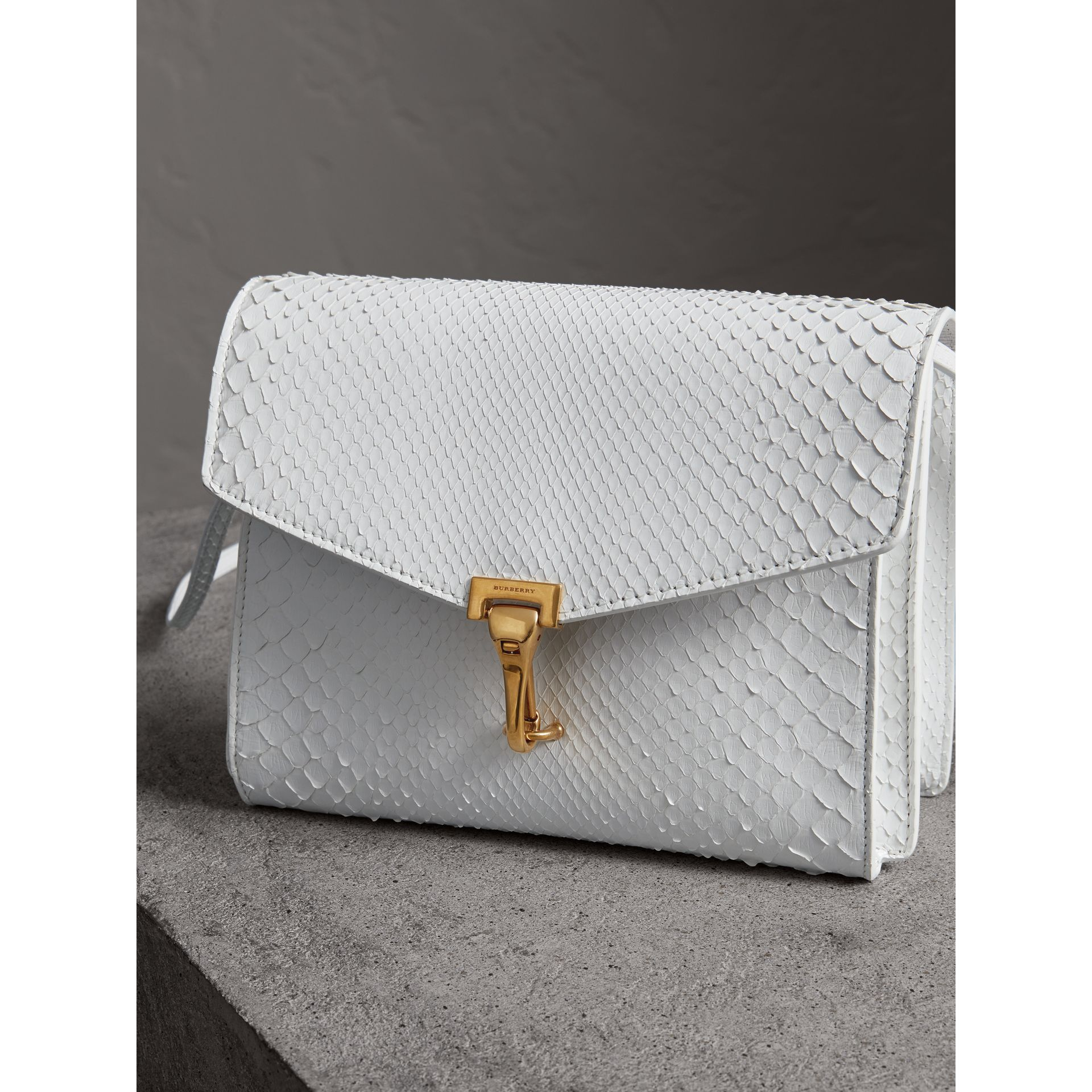 Small Python Crossbody Bag in Chalk White - Women | Burberry - gallery image 5