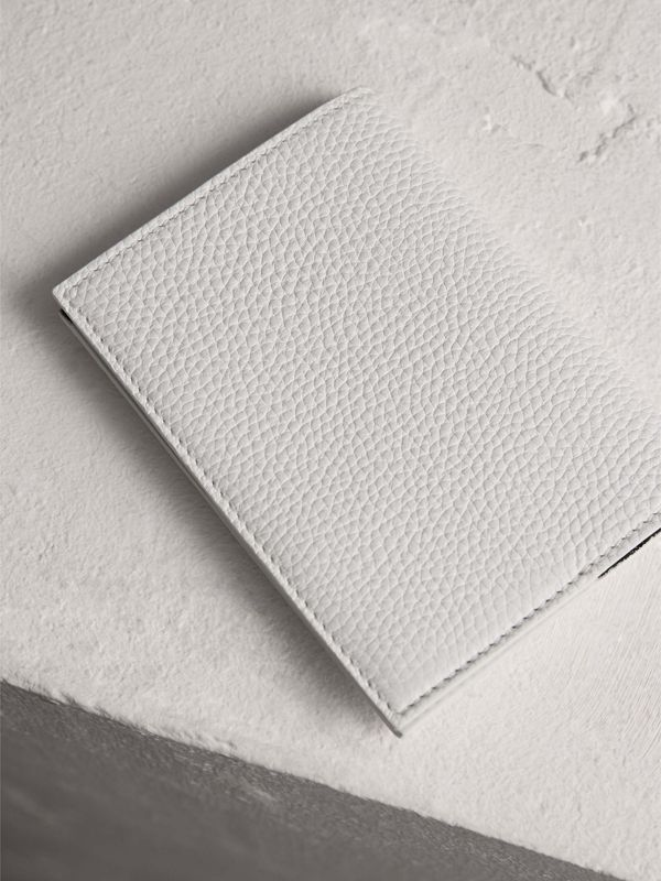 Embossed Leather Passport Holder in Chalk White | Burberry Canada - cell image 2