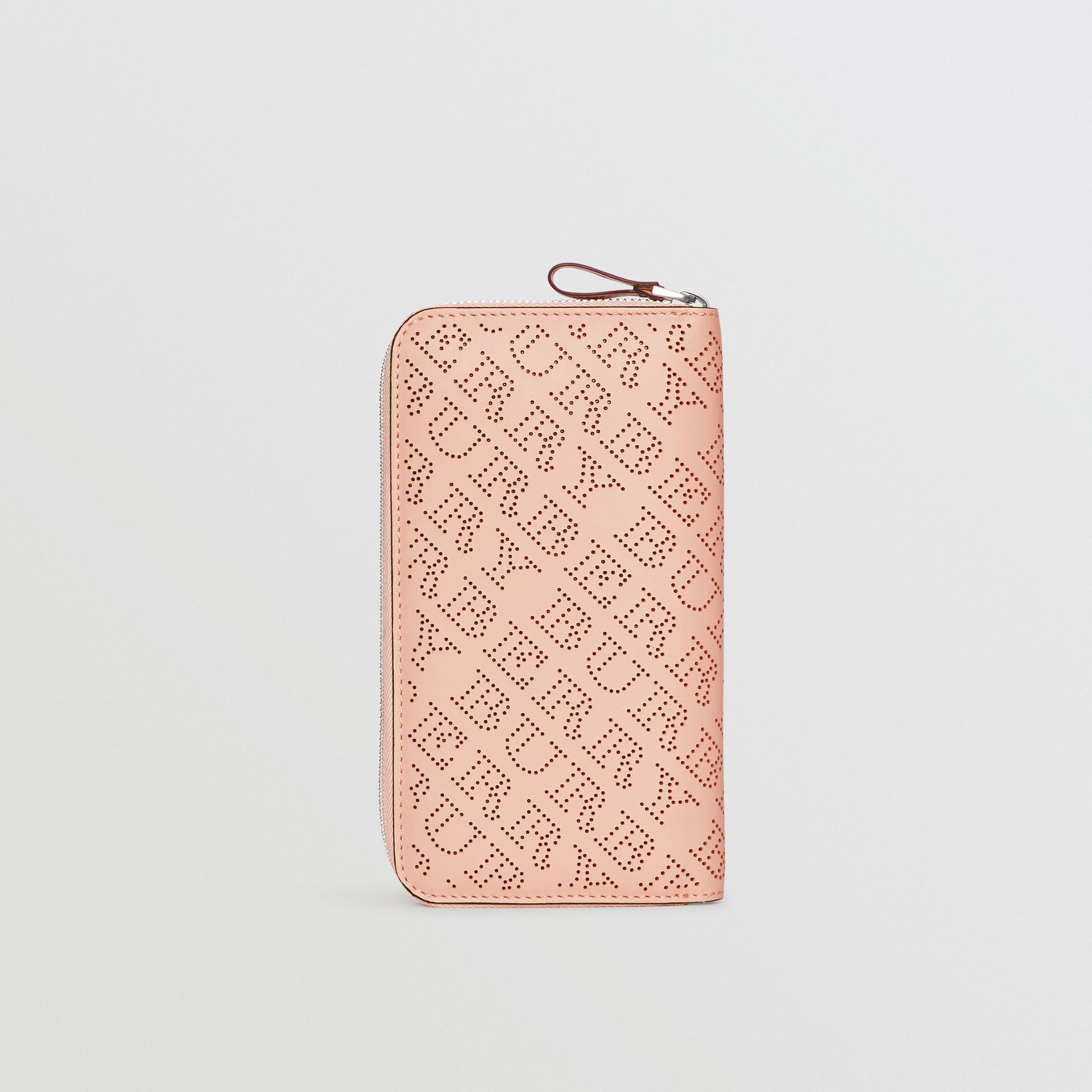 Perforated Leather Ziparound Wallet in Pale Fawn Pink - Women | Burberry - gallery image 2