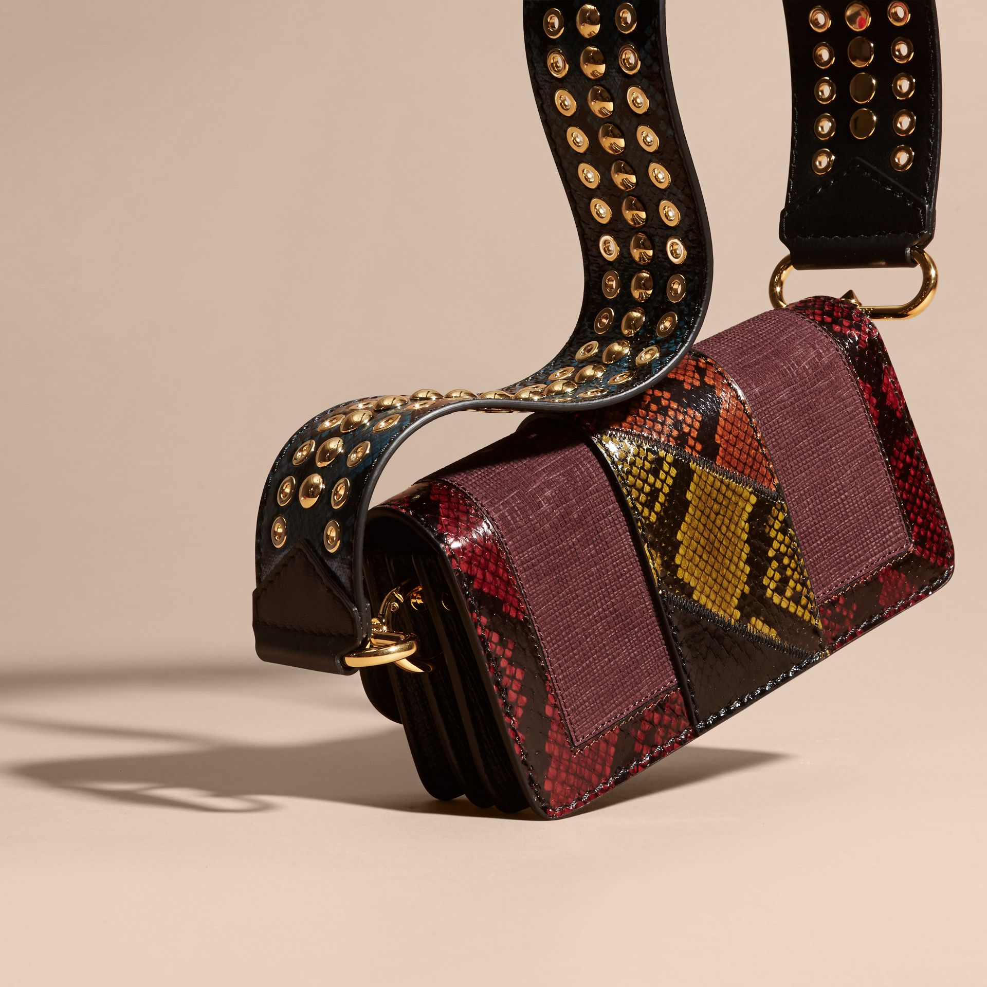 The Patchwork in Textured Suede and Snakeskin - gallery image 2