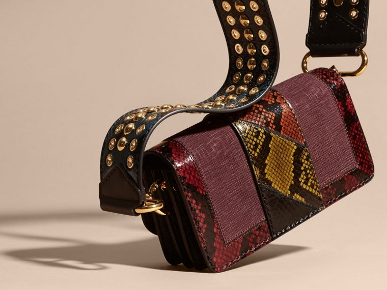 The Patchwork in Textured Suede and Snakeskin - cell image 1