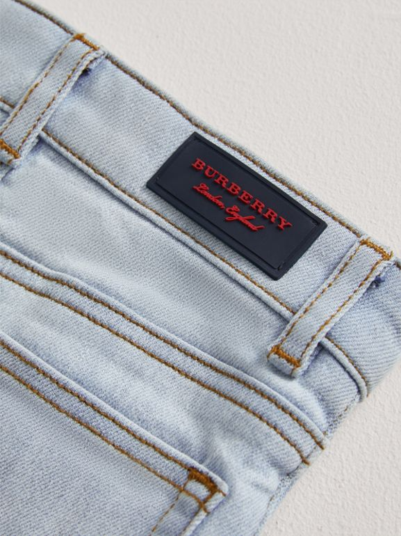 Skinny Fit Stretch Denim Jeans in Light Blue - Children | Burberry United Kingdom - cell image 1