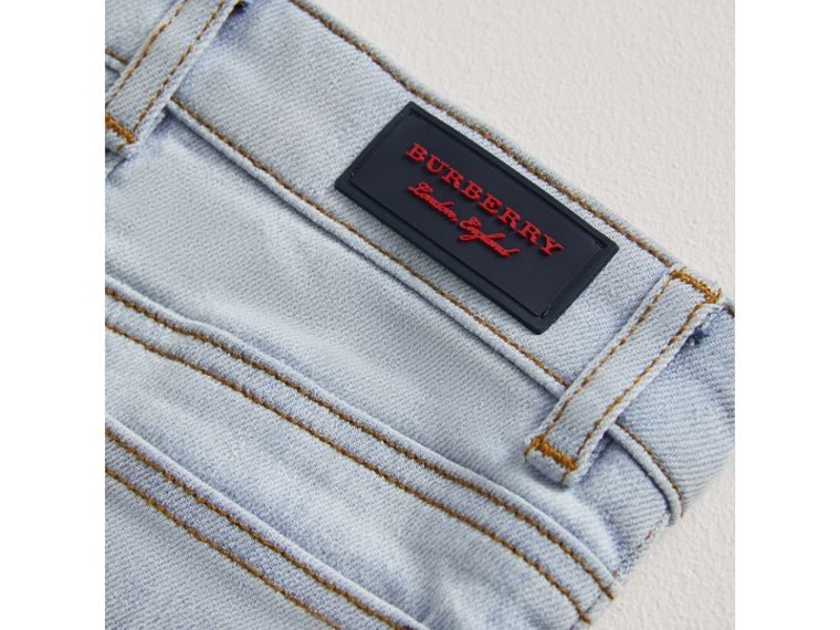 Skinny Fit Stretch Denim Jeans in Light Blue | Burberry - cell image 1