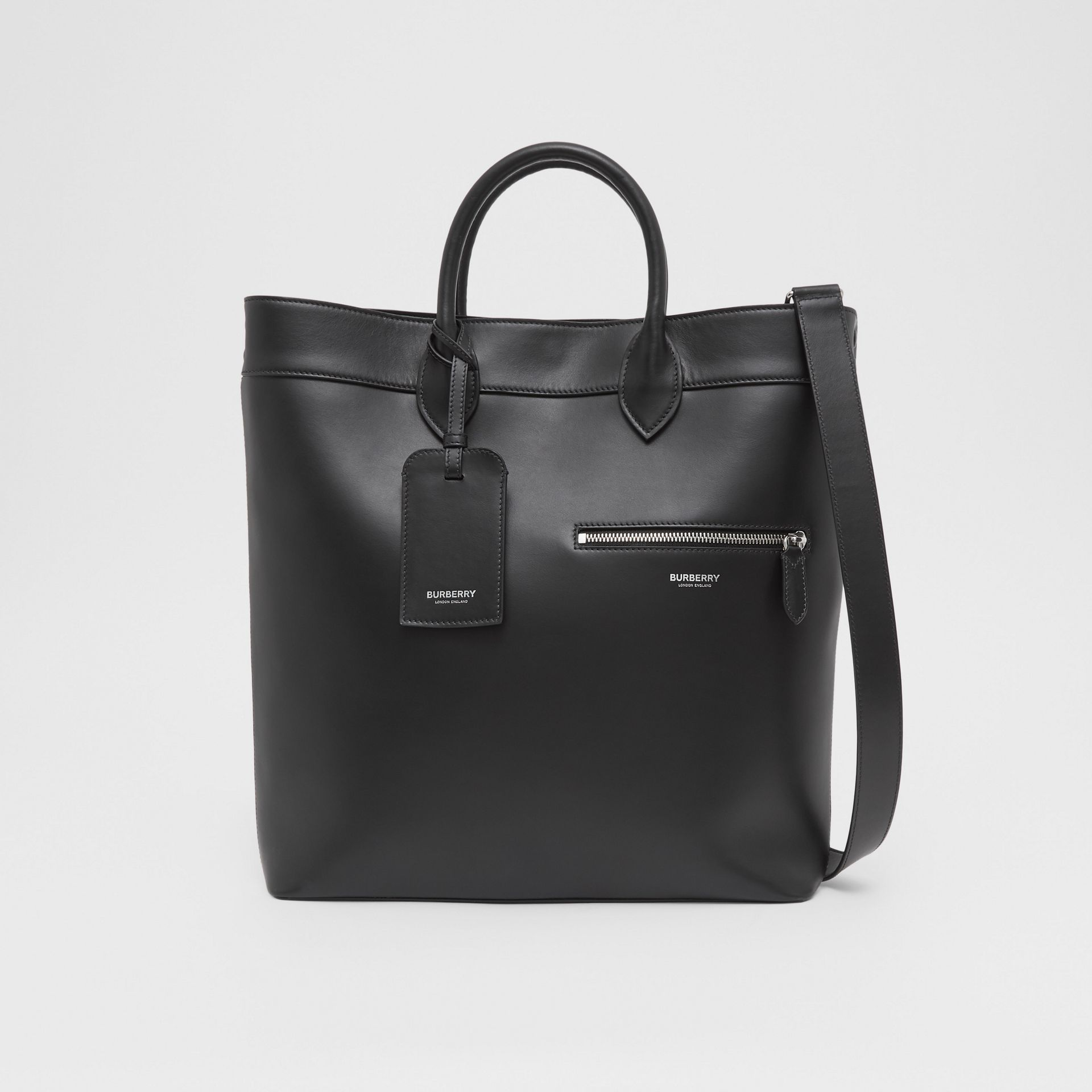 Leather Tote in Black - Men | Burberry United Kingdom - gallery image 0