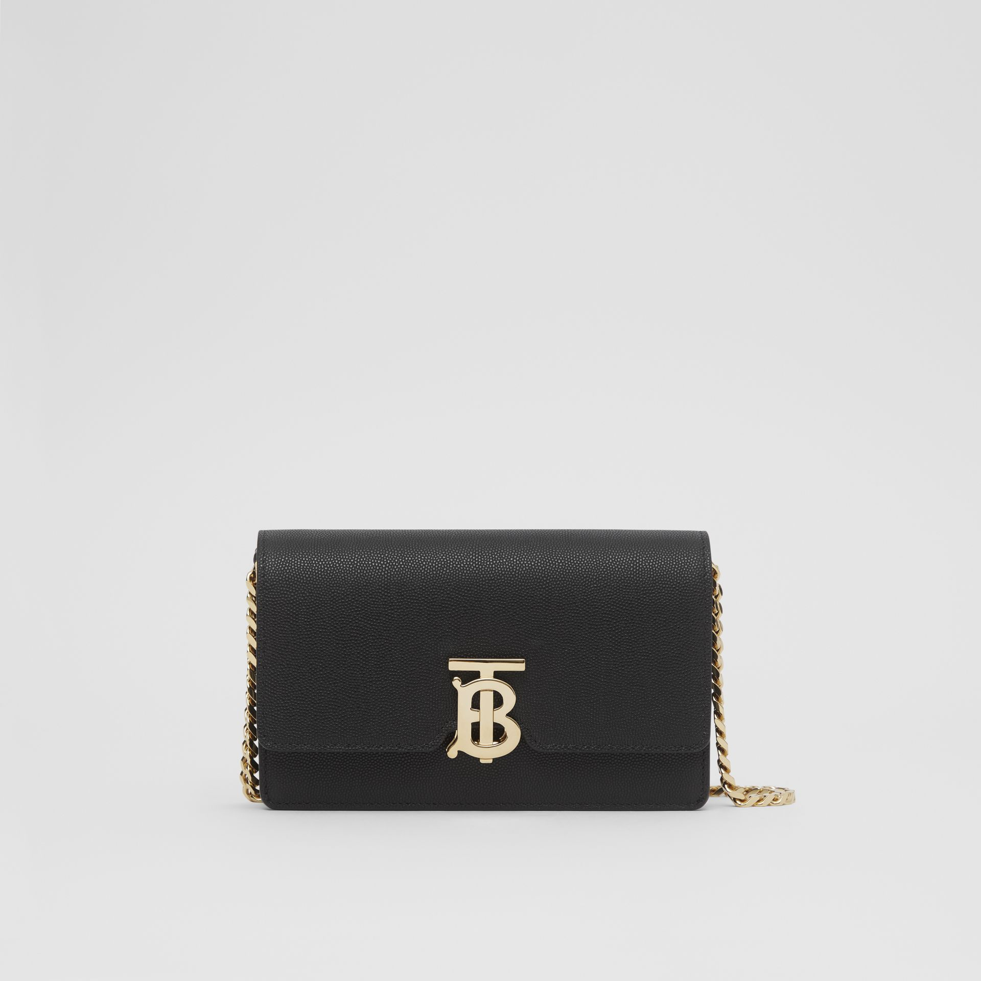Small Grainy Leather Shoulder Bag in Black - Women | Burberry United Kingdom - gallery image 0