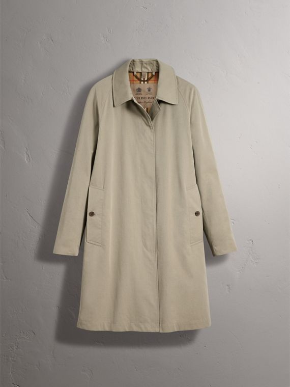 The Camden – Long Car Coat in Sandstone - Women | Burberry - cell image 3