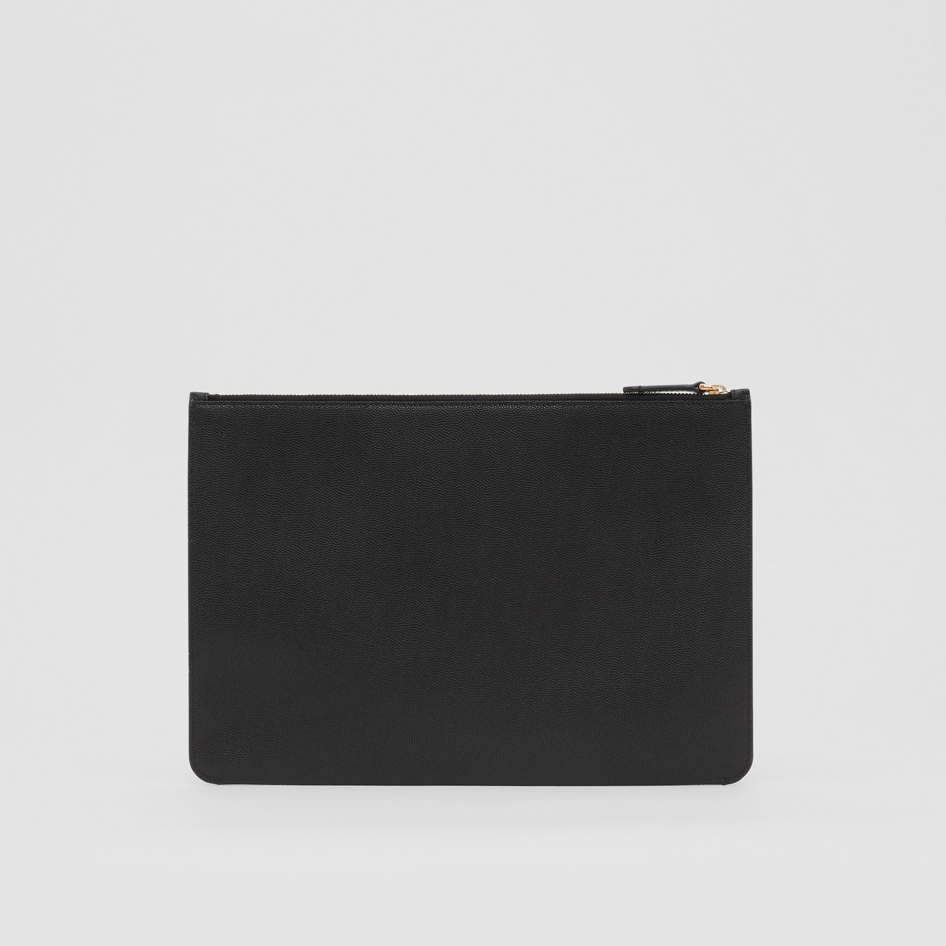 Monogram Motif Grainy Leather Pouch in Black - Women | Burberry - gallery image 6
