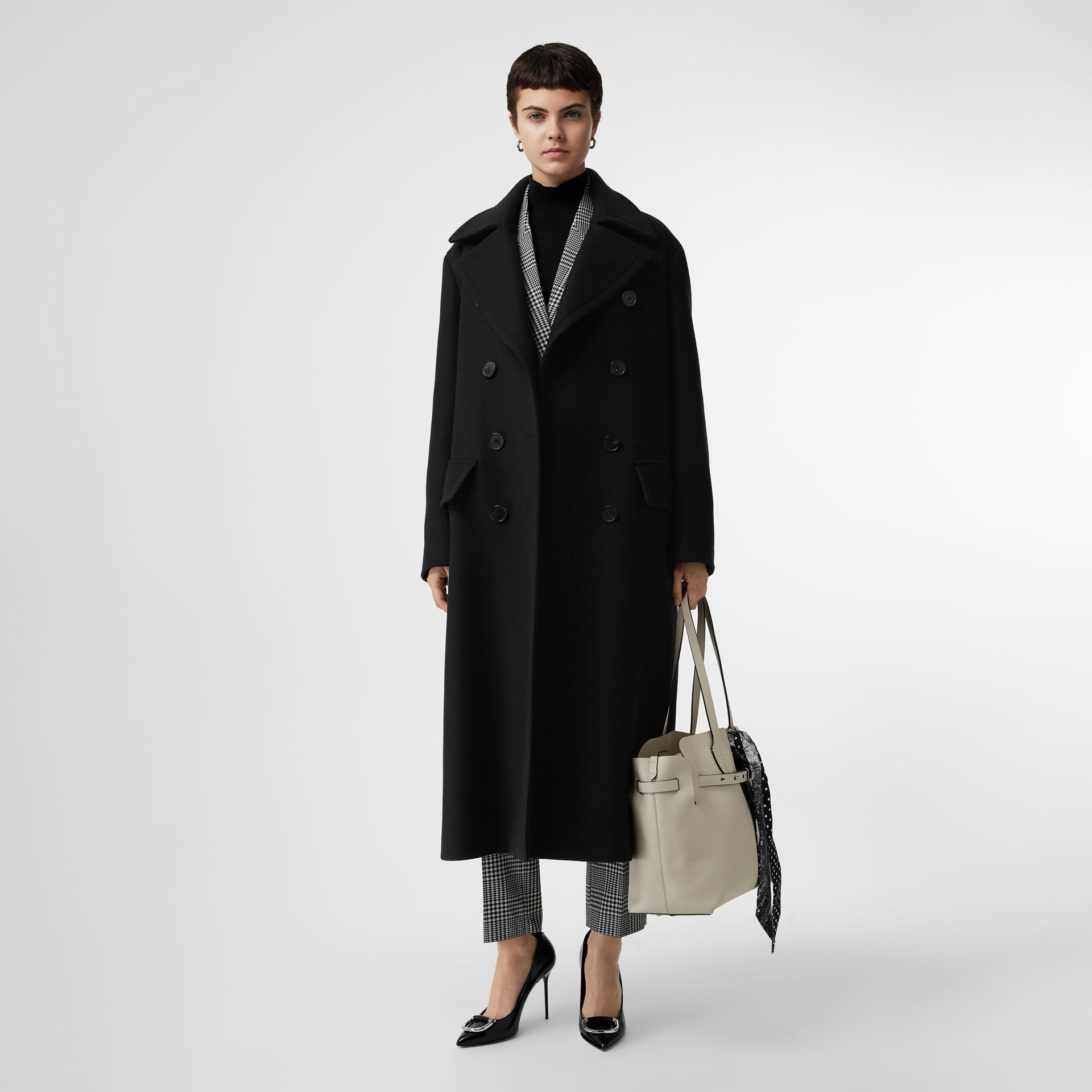 Double-faced Cashmere Tailored Coat in Black - Women | Burberry - gallery image 0