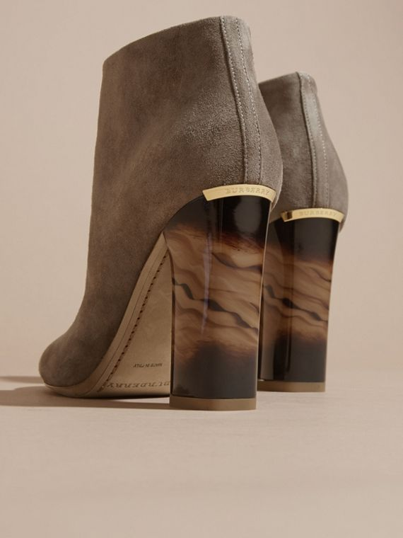 Dark heather melange Suede Ankle Boots - cell image 3