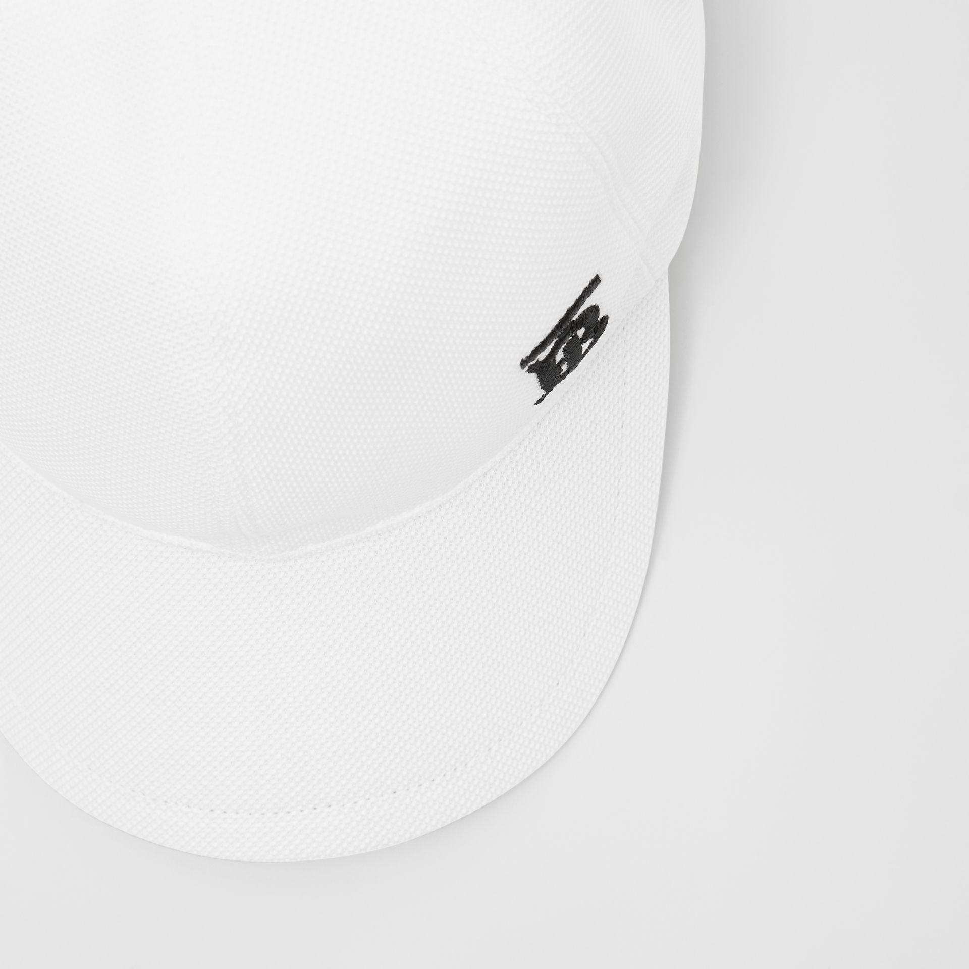 Monogram Motif Baseball Cap in White | Burberry - gallery image 1